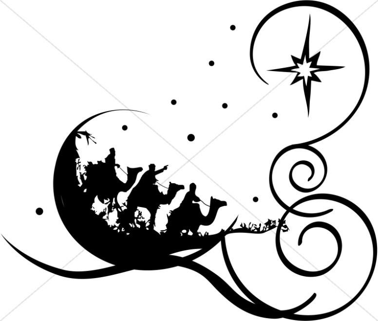 Black religious christmas clipart vector Religious christmas clipart black and white 3 » Clipart Portal vector
