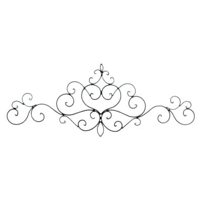 Black rod iron scroll clipart clip art library download iron scroll wall art – ashlei clip art library download