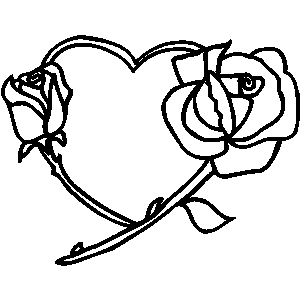 Black rose and heart clipart transparent stock Heart And Rose Clipart | Free download best Heart And Rose Clipart ... transparent stock
