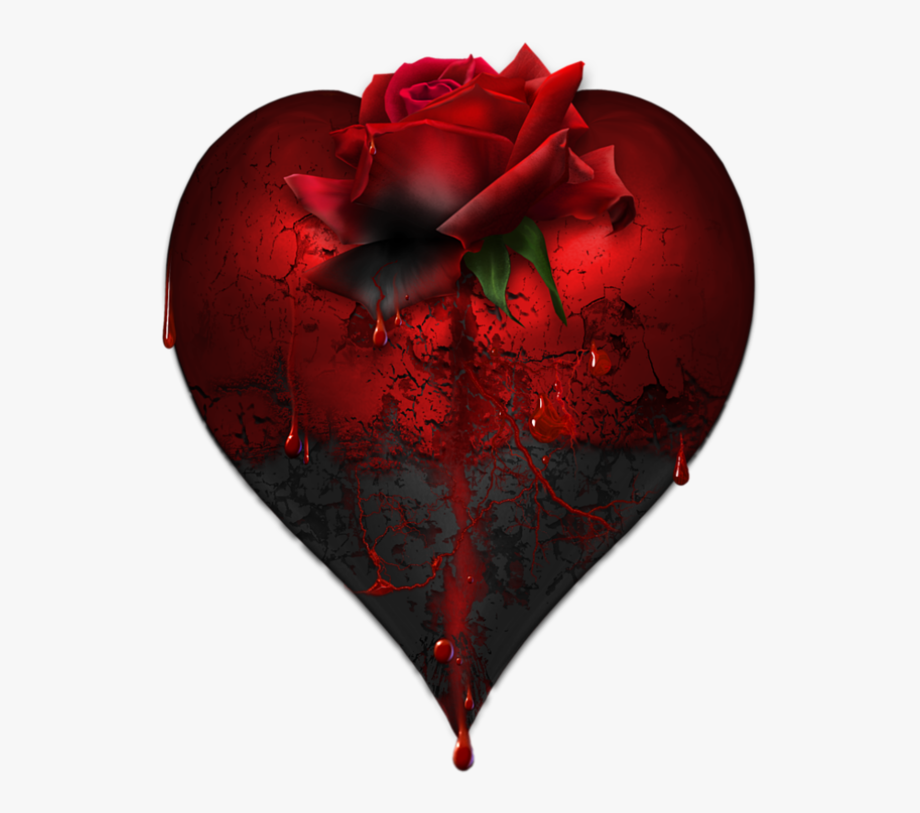 Black rose and heart clipart clipart free stock Red Heart Png Black - Black Rose Black Heart #1996338 - Free ... clipart free stock
