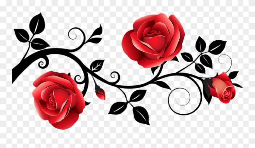 Black rose and heart clipart jpg royalty free library Rose,Red,Flower,Floral design,Rose family,Branch,Garden roses,Plant ... jpg royalty free library