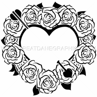 Black rose and heart clipart graphic stock HD Black Rose White Download - Rose Clip Art Border , Free Unlimited ... graphic stock