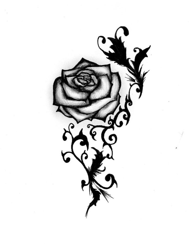 Black rose and heart clipart png black and white library Free Black And White Roses Pictures, Download Free Clip Art, Free ... png black and white library