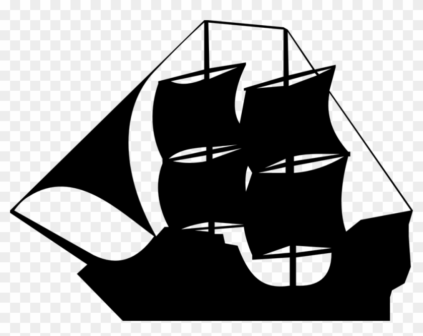 Black sails pirate boat clipart transparent background image freeuse stock Boat Clipart Medieval - Pirate Ship Clip Art, HD Png Download ... image freeuse stock