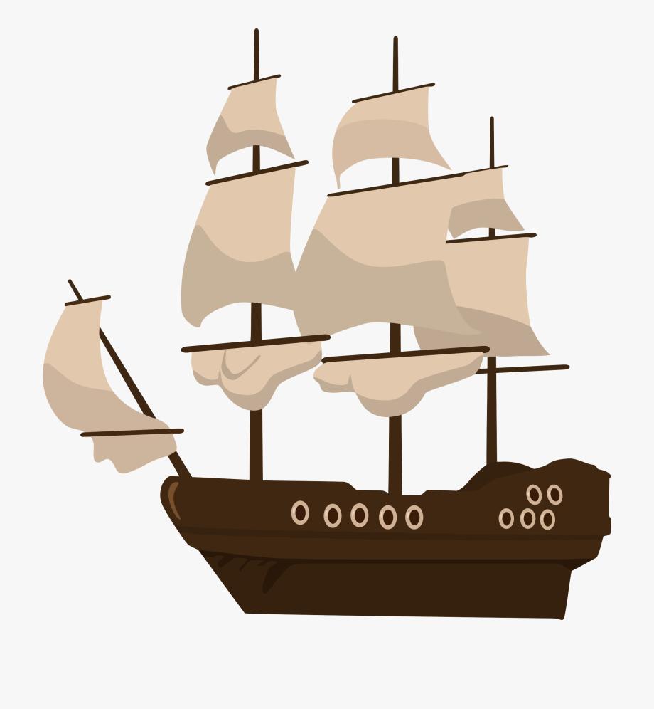 Cartoon sailing ship clipart transparent stock Pirate Ship - Pirate Ship Clipart Png #218149 - Free Cliparts on ... transparent stock