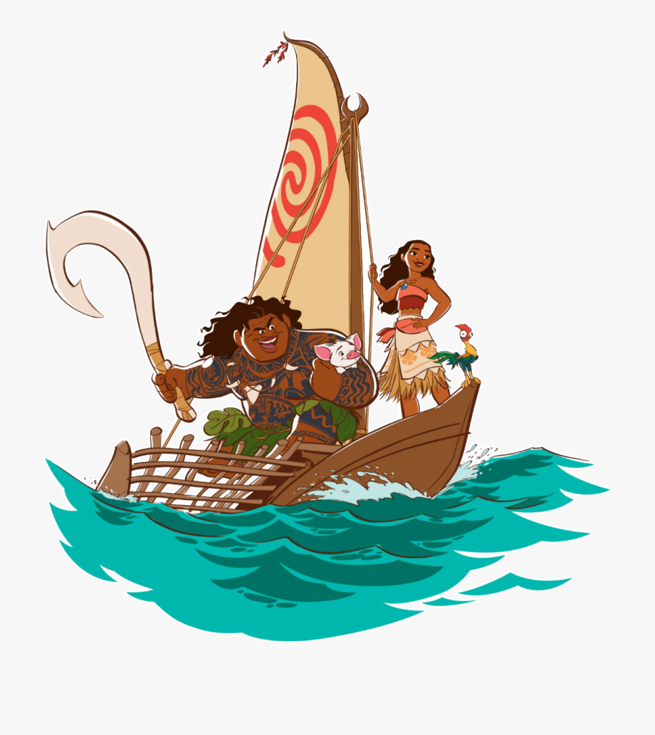 Black sails pirate boat clipart transparent background graphic library library Moana Clipart Ship - Moana And Maui On Boat #127362 - Free Cliparts ... graphic library library
