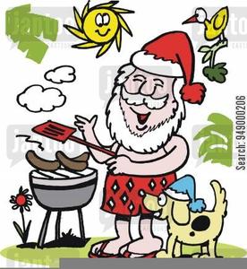 Black santa barbeque clipart transparent download Christmas Barbecue Clipart   Free Images at Clker.com - vector clip ... transparent download