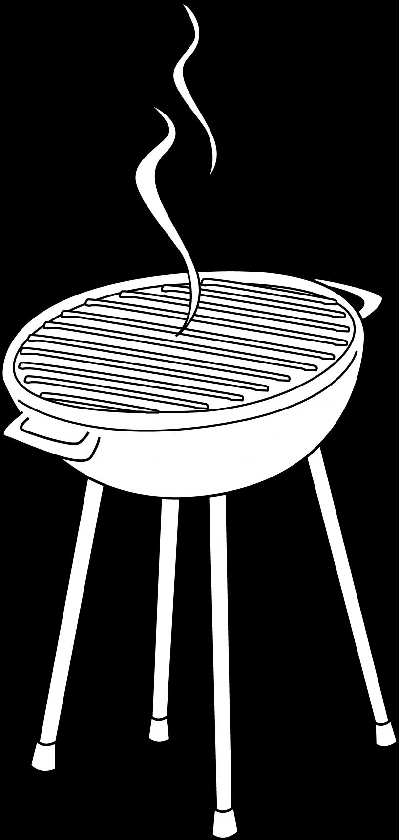 Black santa barbeque clipart jpg freeuse download HD Barbeque Grill Clip Art Free - Grill Clipart Black And White ... jpg freeuse download