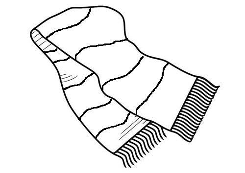 Black scarf clipart jpg royalty free Scarf clipart black and white 6 » Clipart Station jpg royalty free