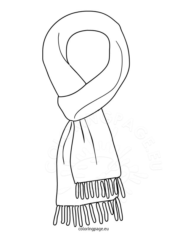Black scarf clipart vector black and white download Scarf clipart black and white 7 » Clipart Station vector black and white download