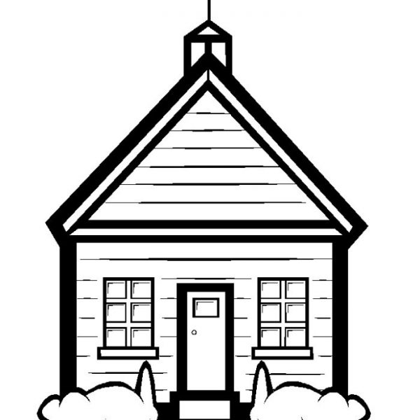 School image clipart black and white image freeuse download Free Black And White School Clipart, Download Free Clip Art, Free ... image freeuse download