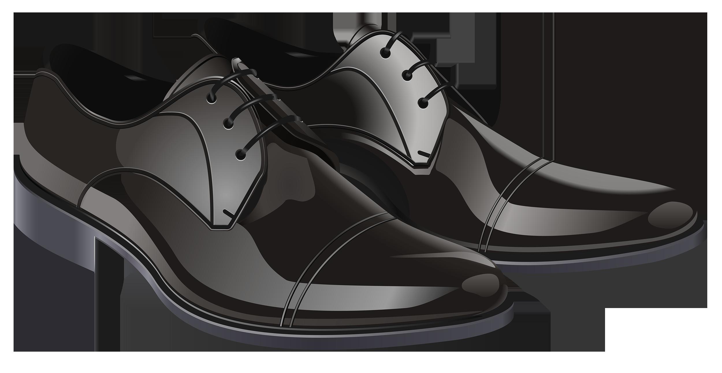 Black shoes for men clipart