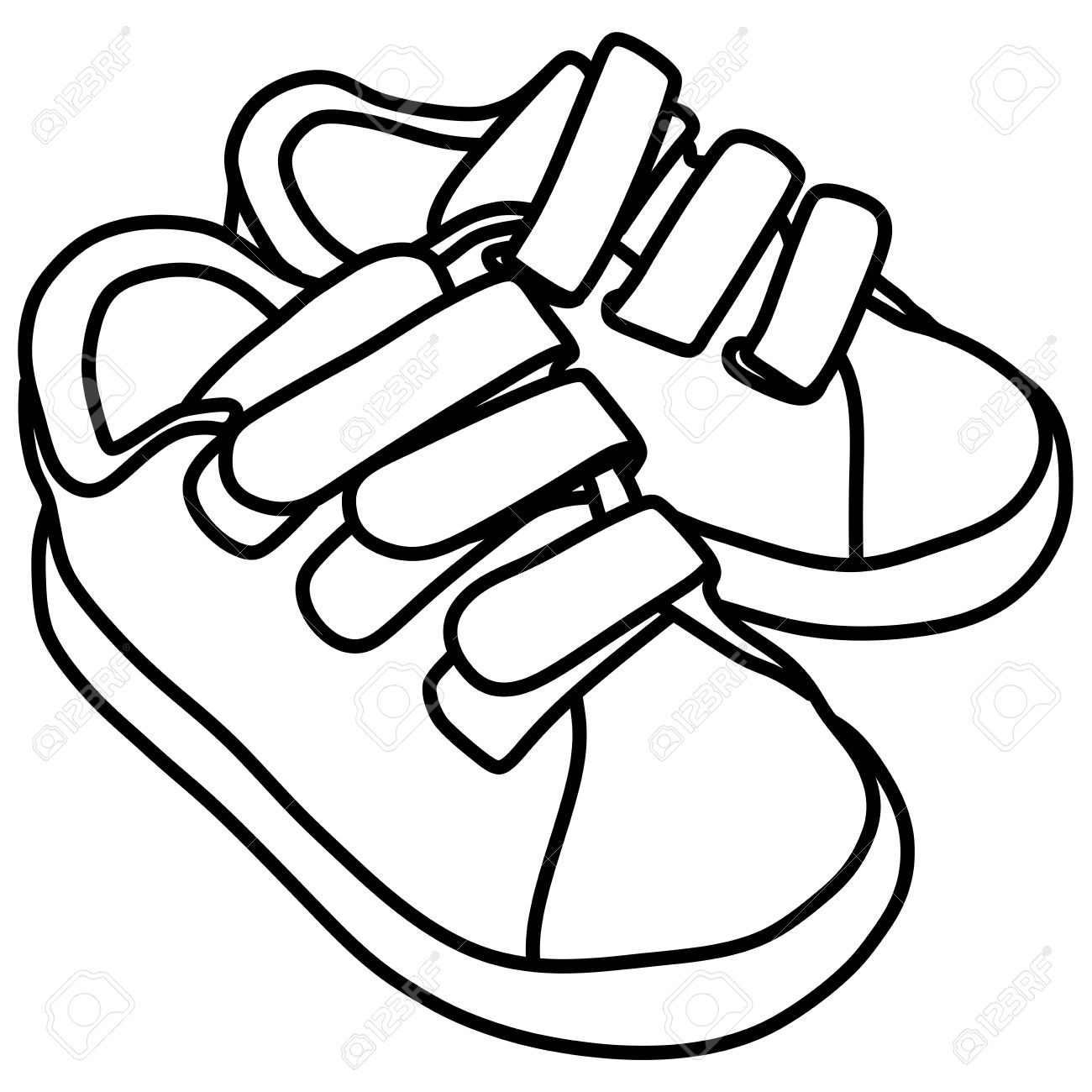 Black school shoes clipart free library School shoes clipart black and white 1 » Clipart Station free library