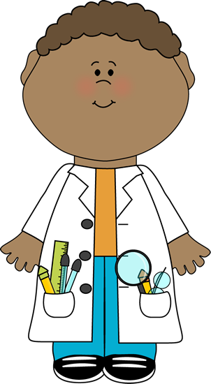 Guy in labcoat clipart graphic free library Child Scientist Clip Art Image - child scientist wearing a lab coat ... graphic free library