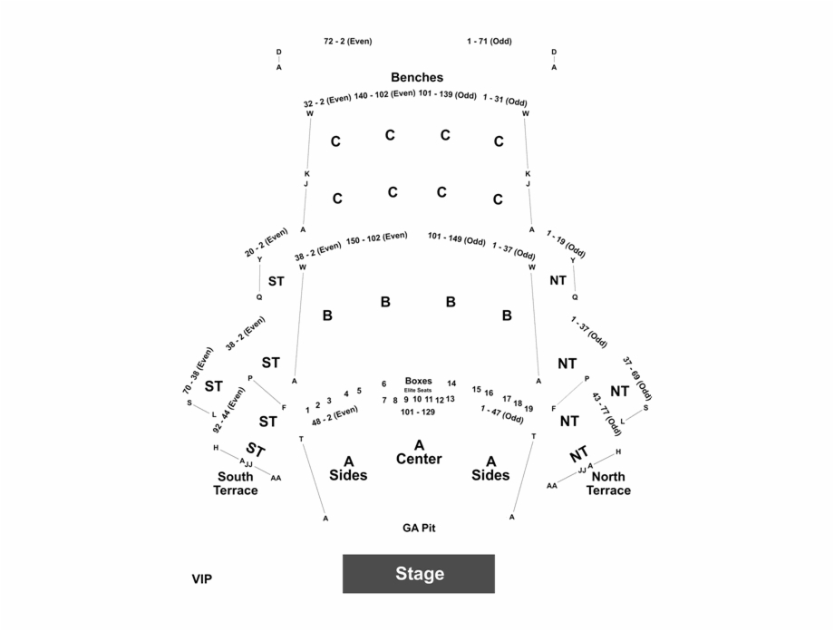 Black seating chart clipart clipart freeuse stock Event Info - Los Angeles Greek Theater Seating Chart Rows Free PNG ... clipart freeuse stock