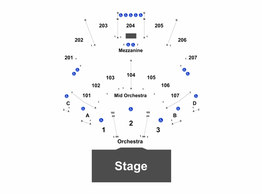 Black seating chart clipart png black and white Event Info - Ovation Hall Ocean Resort Seating Chart Free PNG Images ... png black and white