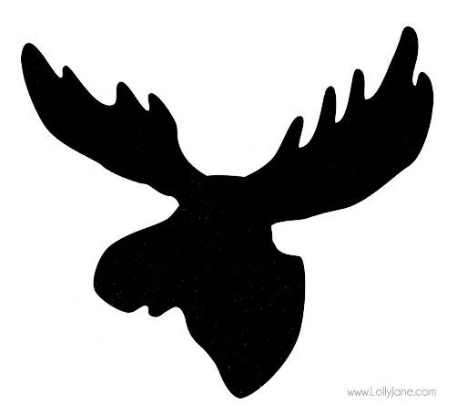 Black shadow moose clipart picture stock moose head black and white - Google Search | Wood Burning Ideas ... picture stock