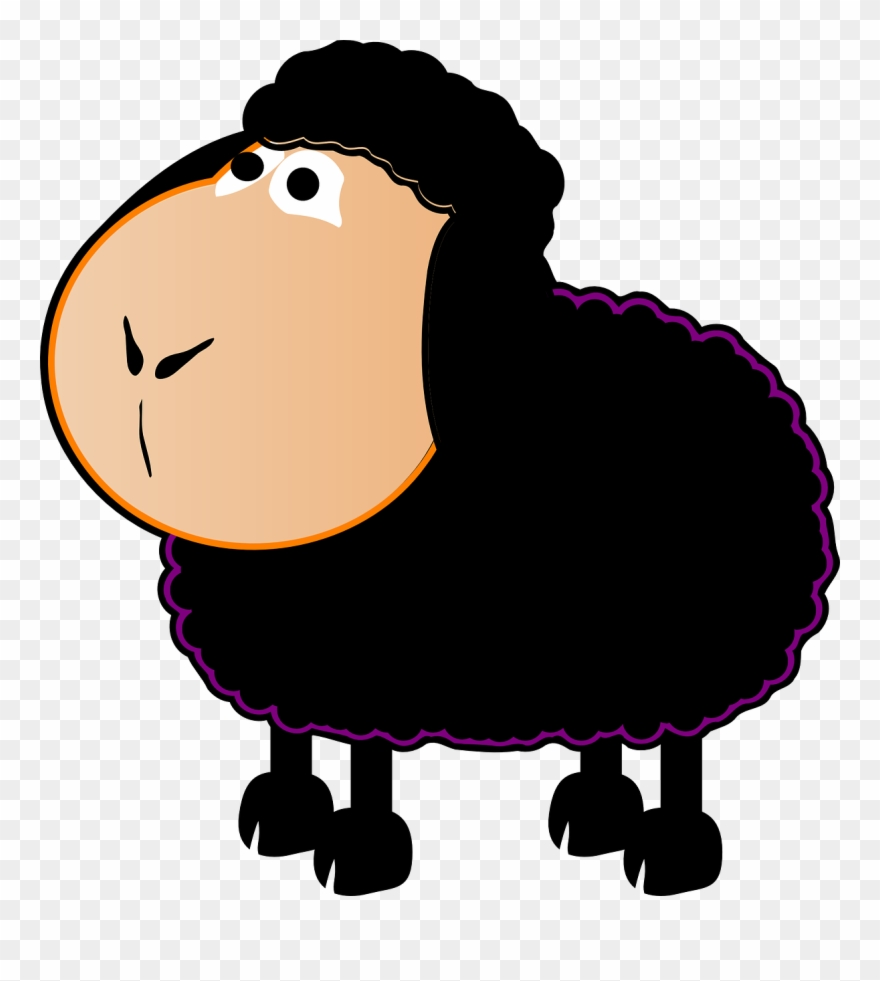 Black sheep cartoon clipart images picture black and white stock Permalink To Black Sheep Clipart - Baa Baa Black Sheep Clip Art ... picture black and white stock
