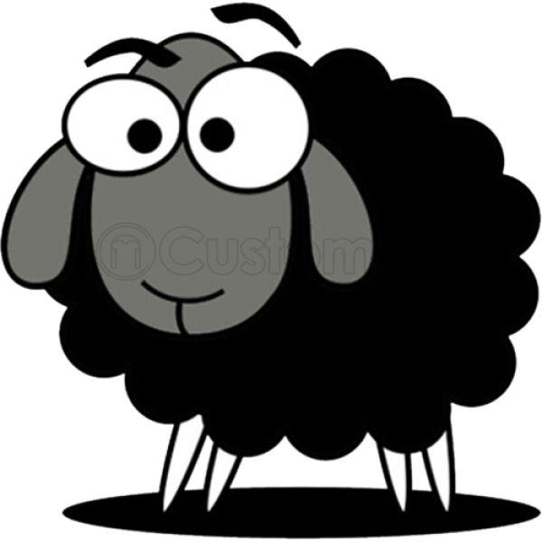Black sheep cartoon clipart images clip royalty free library Black Sheep Cartoon Baby Onesies | Hoodiego.com clip royalty free library