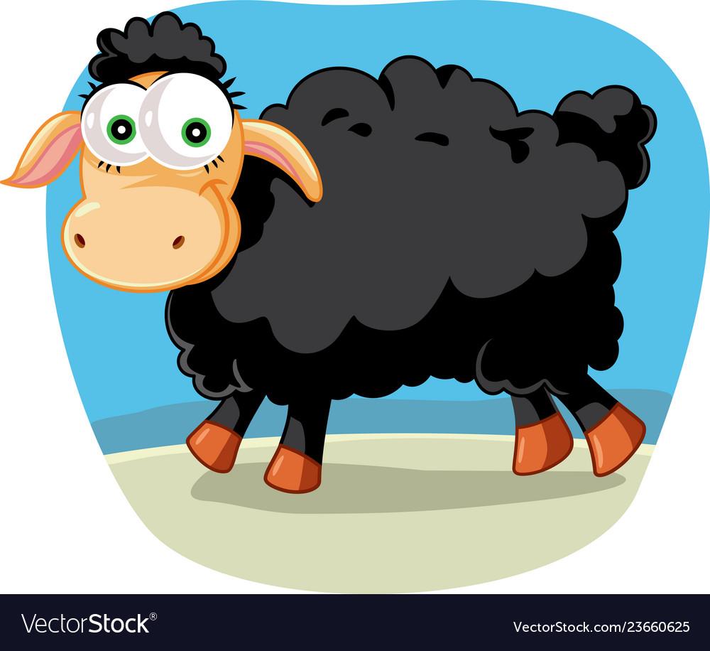 Black sheep cartoon clipart images vector royalty free download Black sheep cartoon vector royalty free download