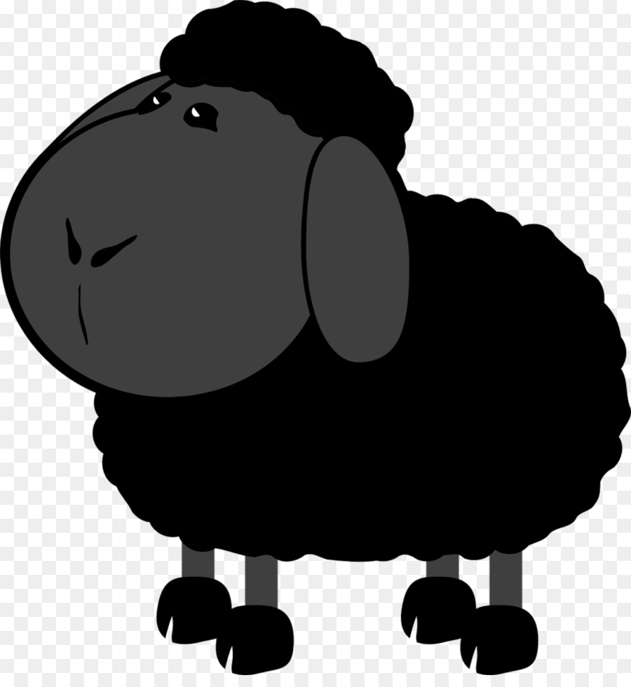 Black sheep cartoon clipart images banner black and white library Cartoon Sheep png download - 957*1024 - Free Transparent Sheep png ... banner black and white library