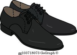 Black shoes for men clipart jpg royalty free library Mens Shoes Clip Art - Royalty Free - GoGraph jpg royalty free library