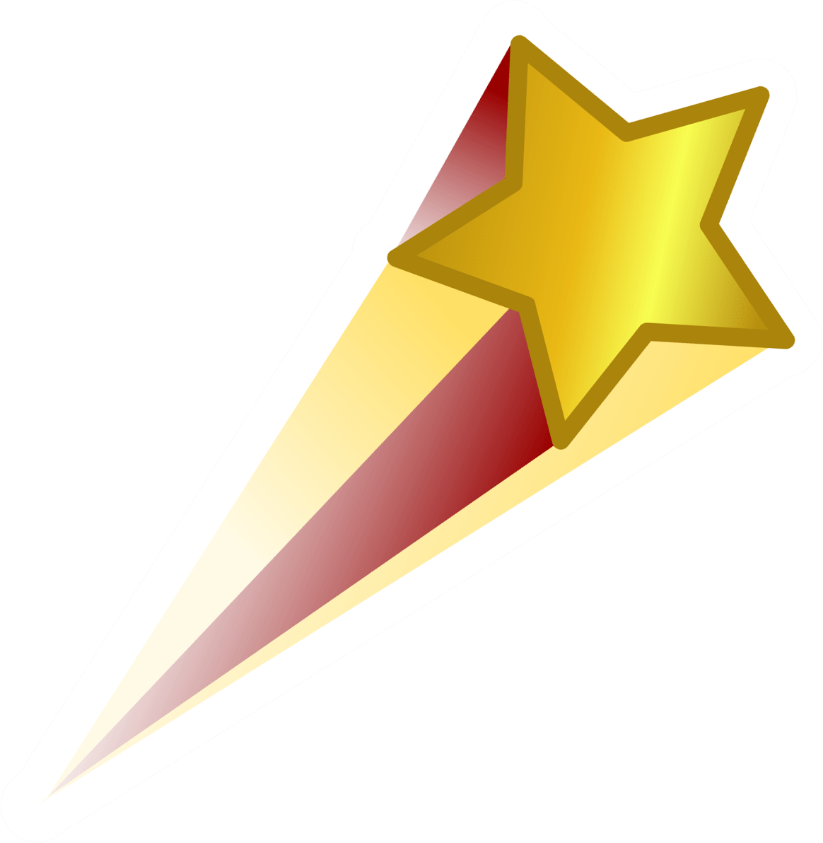 Black shooting star clipart png png free library Gold Shooting Star transparent PNG - StickPNG png free library