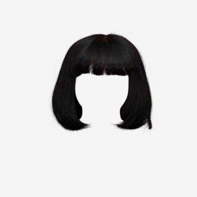 Black short hair clipart