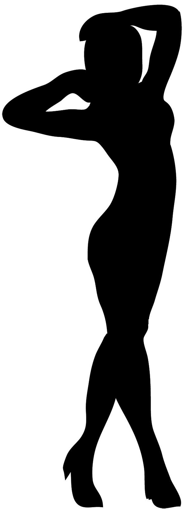 Black silhouette clipart jpg transparent stock Female Silhouette jpg transparent stock