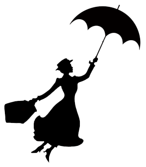 Black silhouette clipart clipart freeuse Mary Poppins Stencil | Art projects | Disney silhouettes, Mary ... clipart freeuse