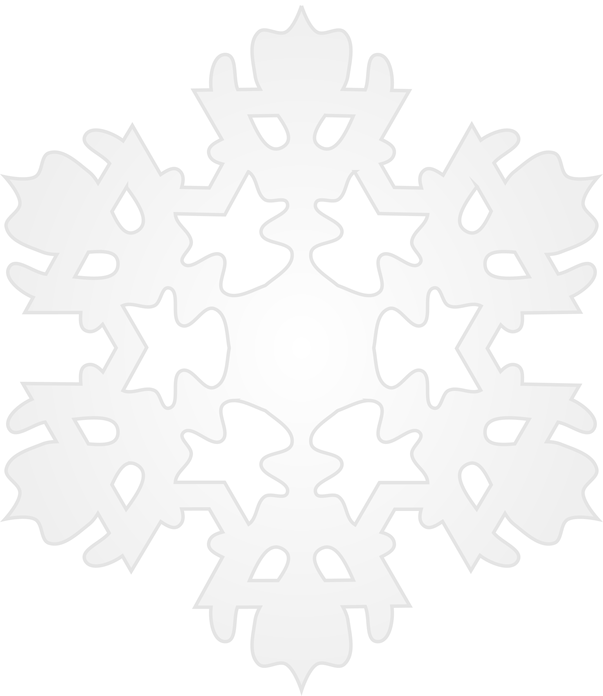 Clipart - Snowflake 5 image transparent stock