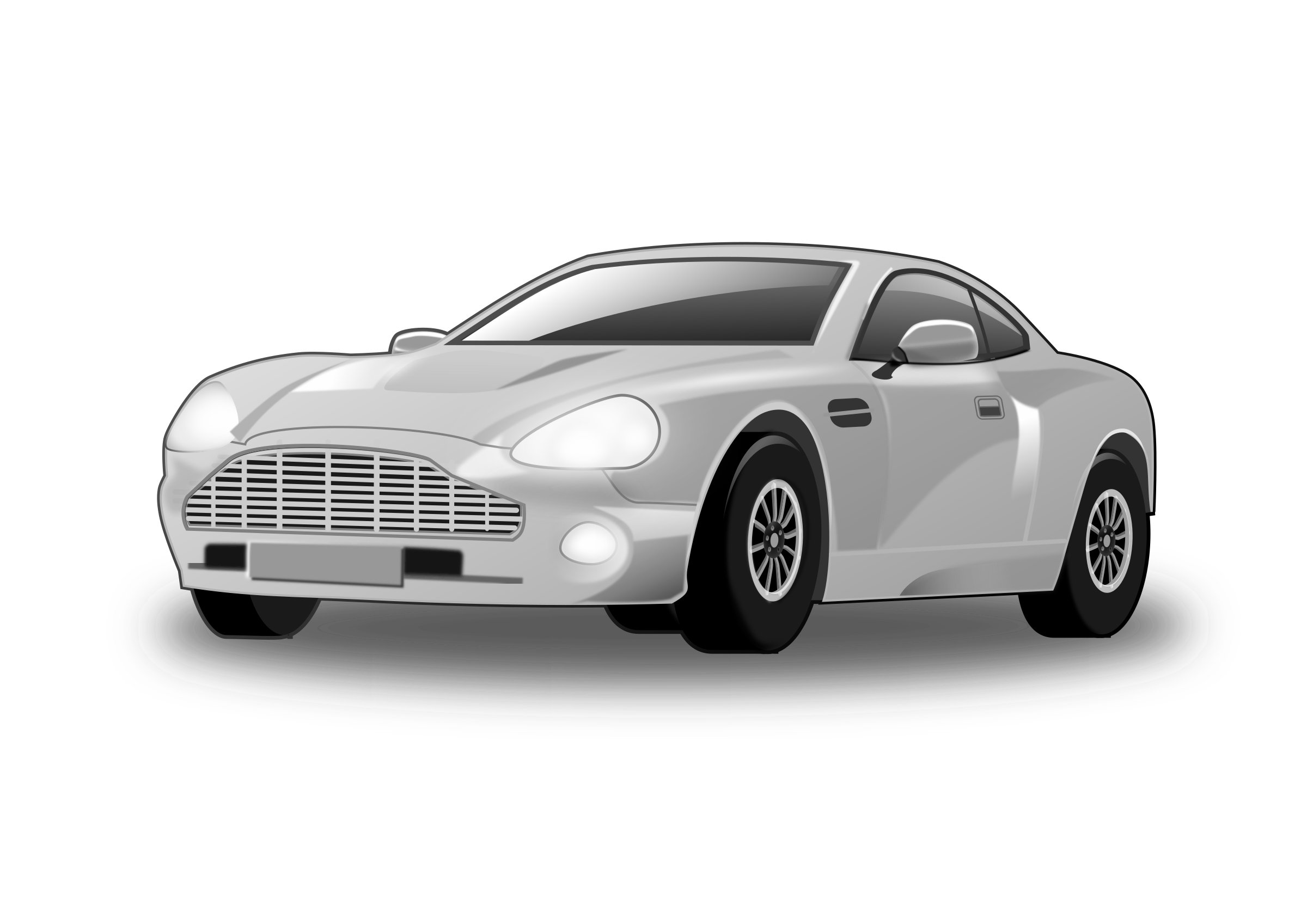 Black sports car clipart clipart library stock Clipart - Silvery Car (remix) clipart library stock