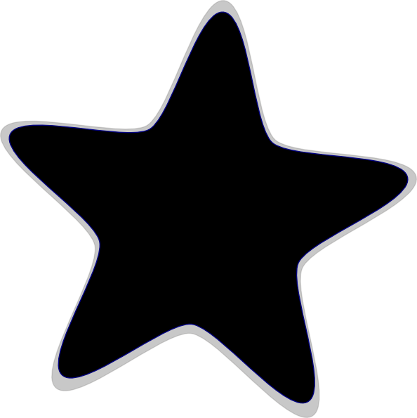 Solid star clipart clip library library black-stars-clipart-1.png (594×595) | clip art stars | Pinterest ... clip library library