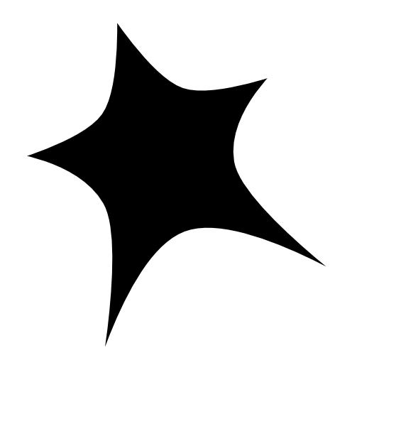 Black star clipart png png download Black Star White Outline Clip Art at Clker.com - vector clip art ... png download