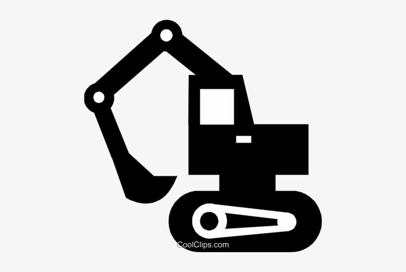 Black steamshovel clipart png royalty free Steam Shovel Royalty Free Vector Clip Art Illustration ... png royalty free