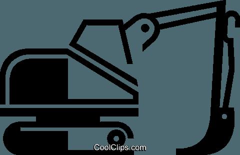 Black steamshovel clipart jpg transparent steam shovel Royalty Free Vector Clip Art illustration -vc046653 ... jpg transparent