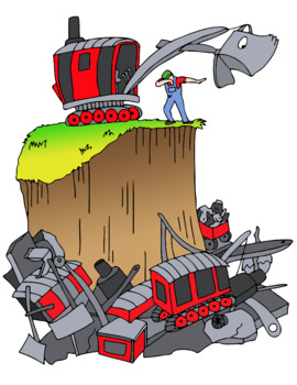 Black steamshovel clipart image free download Mike Mulligan and his Steam Shovel Story Book Clip Art image free download