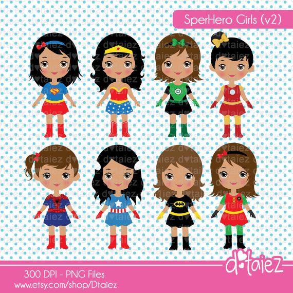 Black superhero female kid clipart image library library Super Girls v2, comic girl, super girl,dark skin, superhero clipart ... image library library