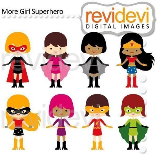 Black superhero female kid clipart picture royalty free library Super Hero — mygrafico picture royalty free library