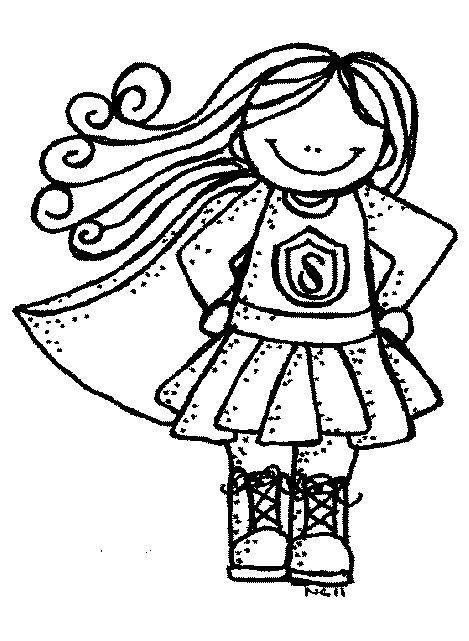 Black superhero female kid clipart graphic free stock MelonHeadz: Super Heroes | Back to School | Superhero classroom ... graphic free stock
