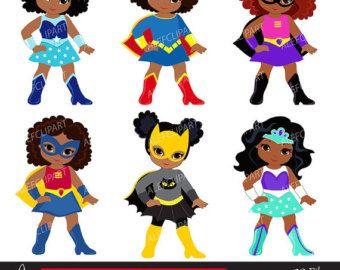 Black superhero kid clipart no water mark vector royalty free download African American Superhero Clipart, Superhero Clipart,Superhero Kids ... vector royalty free download