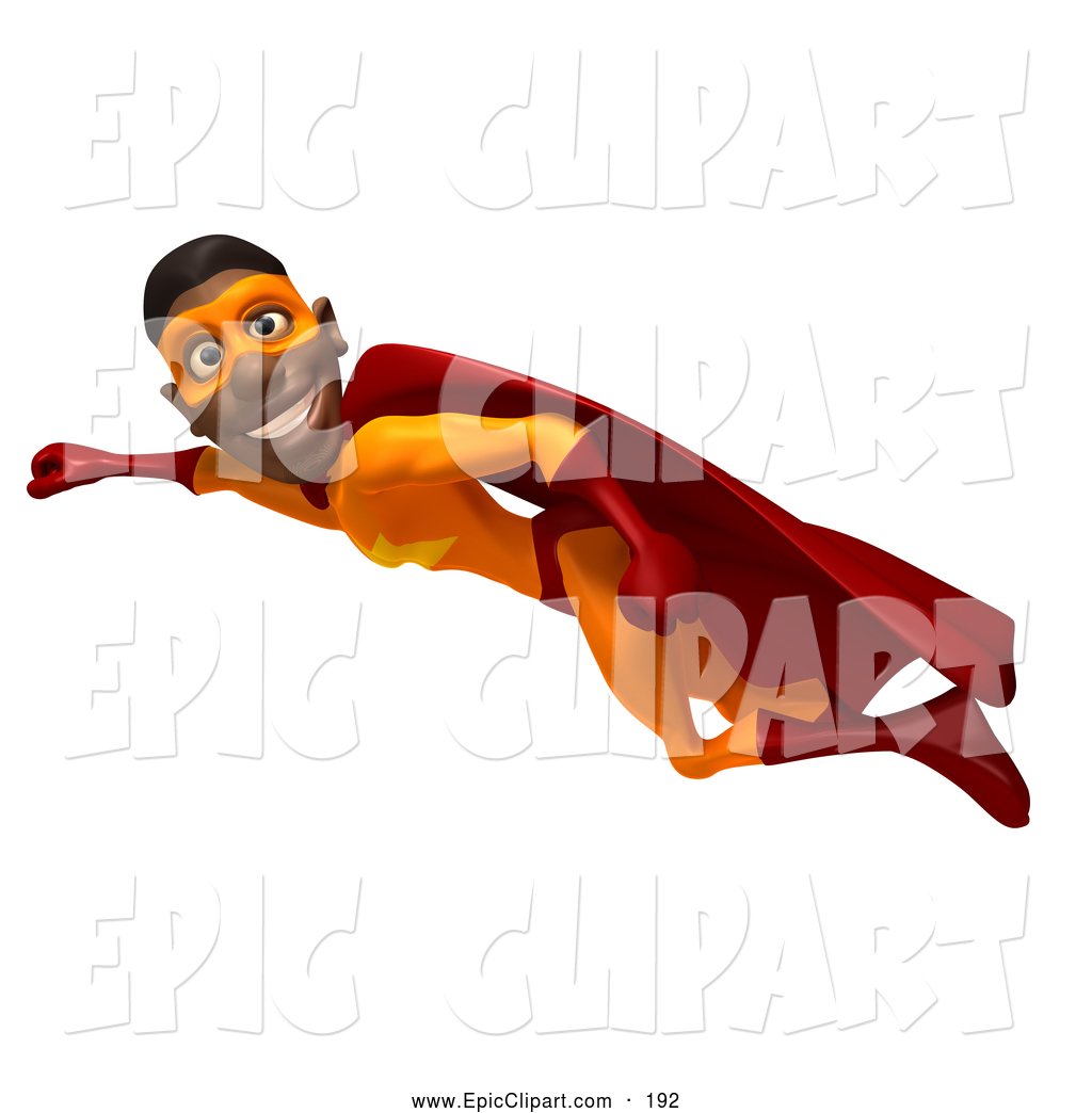 Black superhero kid clipart no water mark clip library Vector Clip Art of a 3d Black Male Super Hero Flying, Wearing an ... clip library