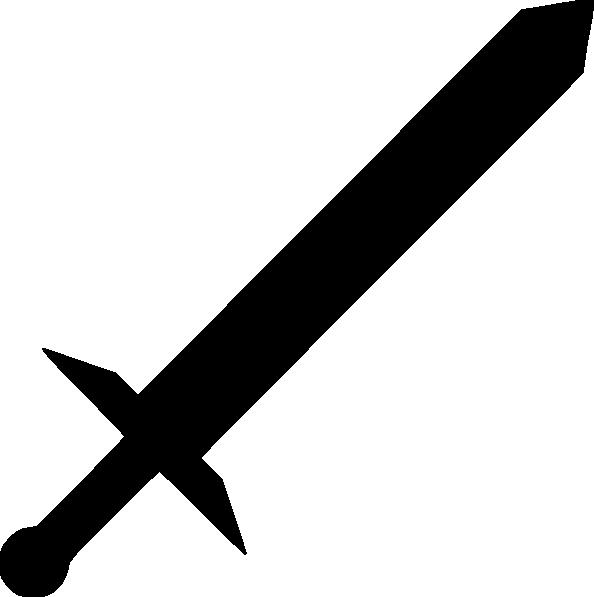 Black sword clipart