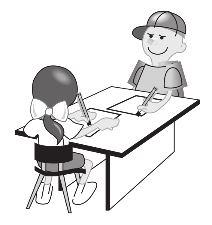 Black teacher with students at table clipart png free stock Monochrome Photography,Communication,Shoe Vector Clipart - Free to ... png free stock