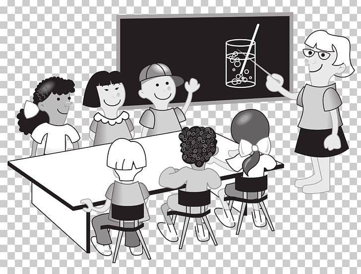 Black teacher with students at table clipart picture transparent library Classroom Teacher PNG, Clipart, Black And White, Blackboard, Cartoon ... picture transparent library