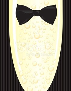 Black tie event images clipart png Black Tie Event Tuxedo and Champagne Glass With Bubbles premium ... png