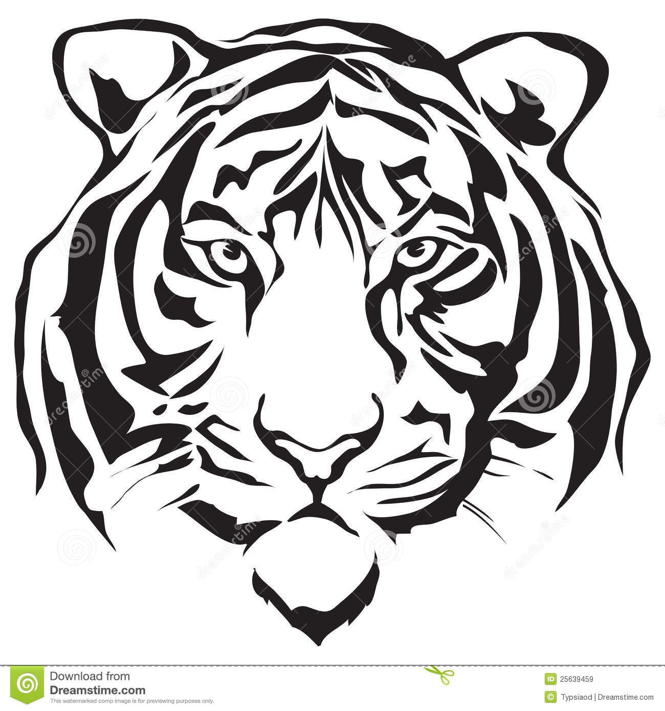 Black tiger clipart banner royalty free stock Black and white tiger clipart 1 » Clipart Station banner royalty free stock