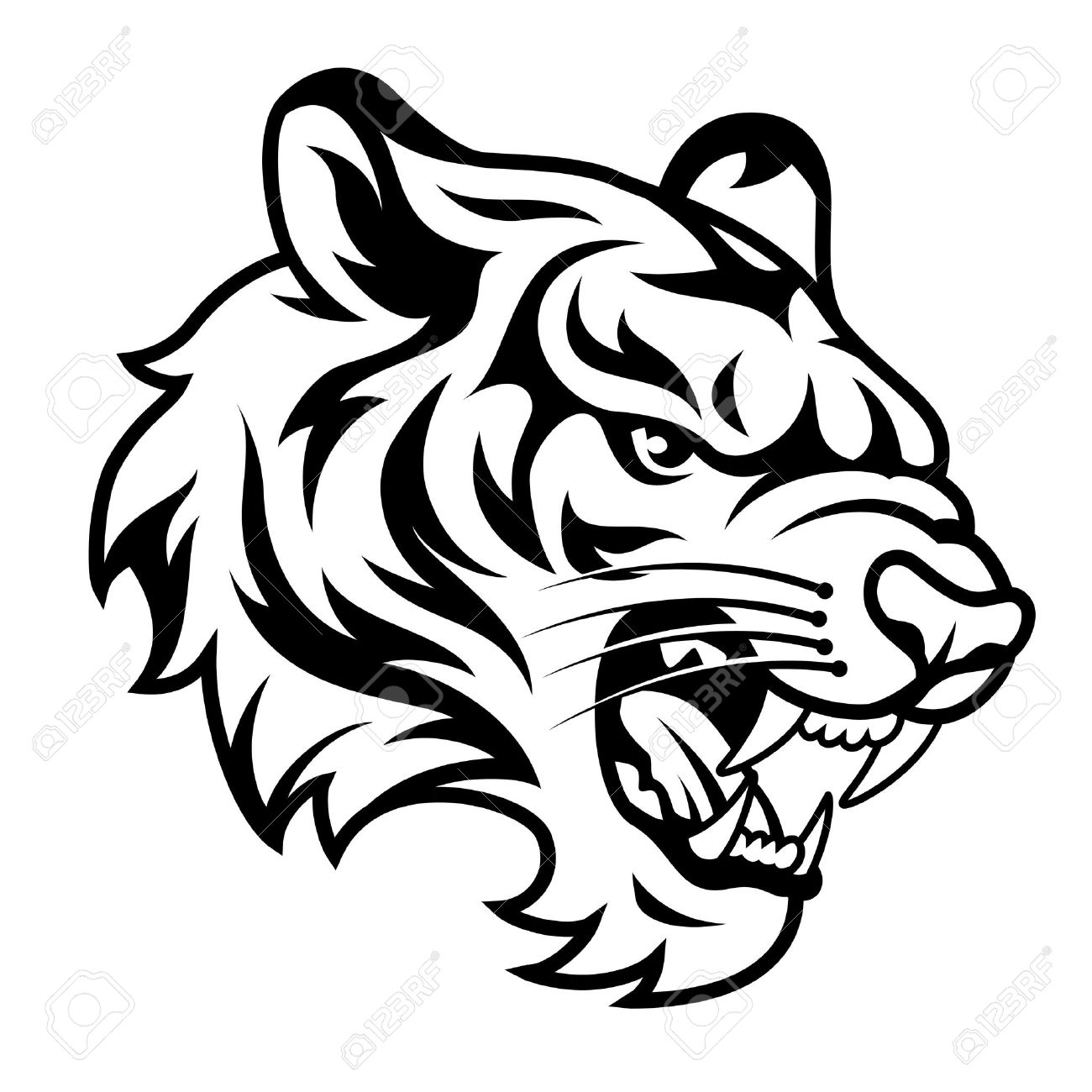 Black tiger clipart clip transparent Tiger Clipart Black And White | Free download best Tiger Clipart ... clip transparent