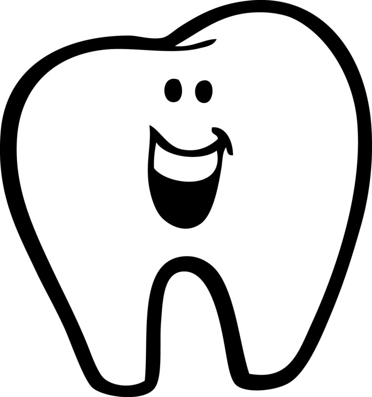 Free Tooth Clipart Black And White Images【2018】 png library