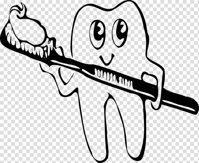 Black toothbrush clipart transparent background clip black and white download Tooth brushing Toothbrush , Cleaning teeth transparent background ... clip black and white download